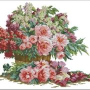 Lanarte 34806 Bouquet of lilacs and peonies